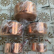 5 Casseroles BOURGEAT ❤️ Cuivre Rouge Massif 2mm - Diamètre 12 à 20 cm - France