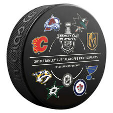 9d54f8f8f9f624 2019 16 Team Participant Stanley Cup Playoffs Commemorative Hockey Puck