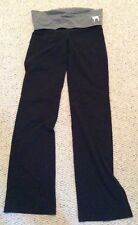 Victoria's Secret Pink ARMY Med Foldover Yoga Pants Boot Cut Stud Legging Bling