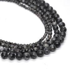 Larvikite Labradorite Stone Crystal Healing Round Loose Beads 4mm 6mm 8mm 10mm