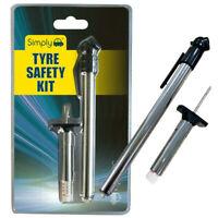 2pc Quality Pressure Gauge Safety Kit Air Psi Tester Car Bike Cycle Caravan