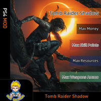 Shadow of The Tomb Raider (PS4 Mod)-Max Money/Skill Points/Resources/Ammo