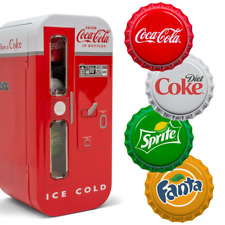 COCA-COLA® Bottle Cap Vending Machine Automat Fiji 4 x 1 $ 999 Silbermünzen PP