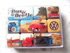 Magnet-Set  VW Bus & Beetle  Nostalgie  9-tlg  Kühlschrank Magnet Set