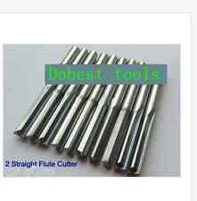 Lot 10pcs double straight slot CNC router wood bits cutting bit 3mm 22mm Bits