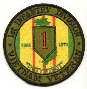 1st Infantry Division Vietnam Veteran Patch