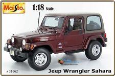Maisto 1:18 JEEP WRANGLER SAHARA  #31662 s Maroon / Deep Red. Special Edition