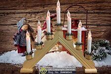 7 Bulb Flickering Beech Christmas Candle Bridge Arch Light Decoration Indoor