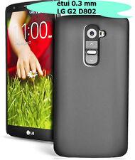 LG G2 D802 COQUE, COVER/CASE, HOUSSE, ÉTUI SEMI-RIGIDE 0.3MM , COULEUR NOIR