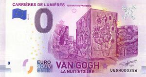 13 LES BAUX Carrières de Lumières 4, Van Gogh, 2019, Billet Euro Souvenir