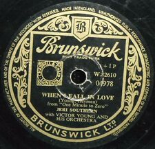 JERI SOUTHERN ~ WHEN I FALL IN LOVE ~ GIVE ME TIME ~ 78rpm