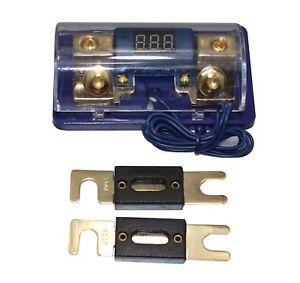 60A Digital Platinum ANL Dist Block 0-4 Gauge Fuse Holder 2PC ANL Fuses FH061G