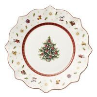 Villeroy & and Boch Christmas TOY'S DELIGHT white salad / dessert plate 24cm NEW