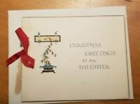 Vintage Antique Christmas Cards to Daughter Unused NOS 1900s