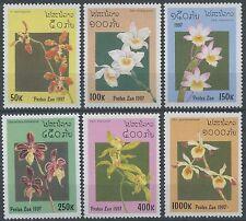 LAOS N°1269/1274**  Fleurs, orchidées, 1997, Flowers, Orchids  Sc#1322-1327 MNH