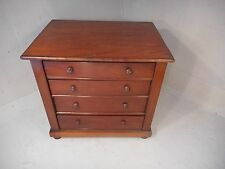 Antique Mahogany Miniature Chest of Drawers , Appentice Piece   ,   ref 1929