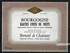 Etiquette de Vin - Bourgogne-Hautes cotes de nuits -New - Never Stuck - Réf.n°58