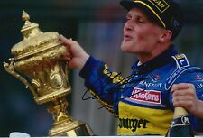 Johnny Herbert Hand Signed Mild Seven Benetton12x8 Photo F1.