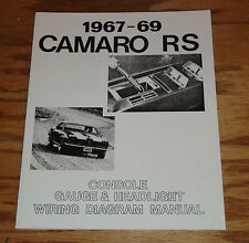 1967 1968 1969 Chevrolet Camaro RS Wiring Diagram Manual 67 68 69 Chevy