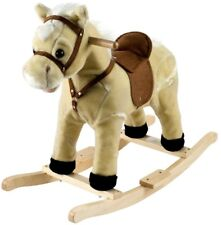 Kids Rocking Plush Horse Baby Soft Cuddly Toy Chair Seat Toddler Rocker Ride NEW