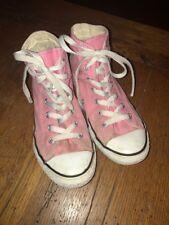 Girls Converse pink high tops Size 3