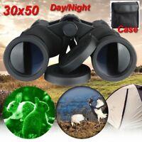 30x50 Zoom Day Night Vision Outdoor Travel HD Binoculars Hunting Telescope+Case