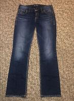 Silver Suki Mid Rise Slim Boot Cut Fluid Denim Womens Dark Wash Jeans Size 29x31