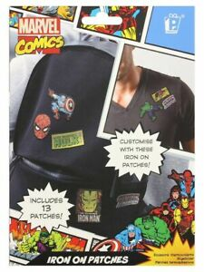 Marvel Comics Iron On Patches, Set Of 13 Different Designs