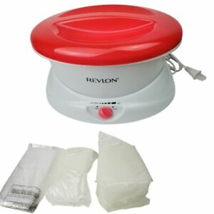 Revlon Electric Paraffin Wax Bath Warmer Spa Machine Therapy 2 Bags Paraffin