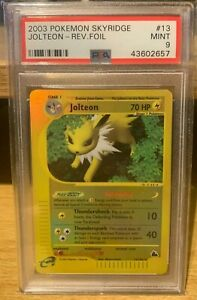 Jolteon Skyridge Reverse Holo 13/144 PSA 9 Mint Rare POP 26 Pokemon 2003