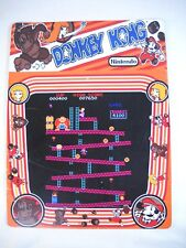 """USED TIN SIGN """"Donkey Kong""""Arcade Console Game Room WallMetal Décor"""
