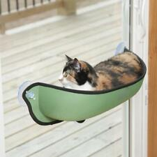 Green Cat Kitten Bed Perch Hanging Hammock Suction Cup Window Seat Fun Sunbath