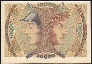 1923 10000 Mark German States Baden Rare Vintage Emergency Money Banknote XF