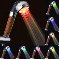 tête de douche 3 filtres ionique économie d'eau haute pression 7 couleurs LED