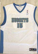 Devner Nuggets #15 Carmelo Anthony Reebok Basketball Jersey Mens Medium NBA Mesh