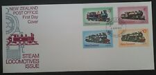 1973 New Zealand Steam Locomotives FDC ties set of 4 stamps Wellington