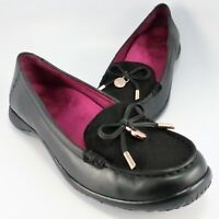 ab083dcbbe4d Orthaheel Weil VENICE Flats Womens Size 7.5M Black Leather Orthotic Slip-On  Shoe