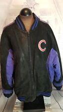 Vtg Vintage Chicago Bears Suede leather letter jacket coat genuine Merchandise