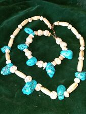 and bracelet Turquoise necklace
