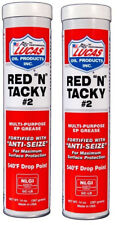 Lucas Red 'N' Tacky #2 Grease 14oz Tube Cartridge Multi Purpose Marine / Farm x2
