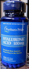 Puritan's Hyaluronic Acid 100mg 120 Caps Lubricate Joint Synovial Fluid + Bonus