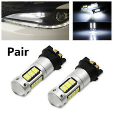 2X Xenon White PWY24W PW24W LED Bulbs For Car DRL Lamp Front Turn Signal Lights