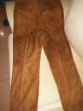 Leather Pants New Lamb Brown Color Genuine Leather / Pantalones de Ante