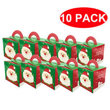 10 Pcs Christmas Gift Box Santa Claus Cookie Candy Food Paper Package Box Decor