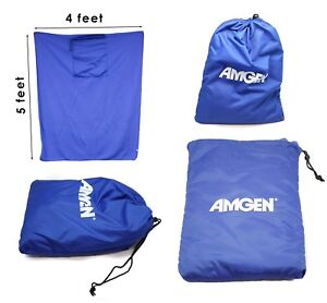 Amgen Picnic Blanket Fleece 5x4'100% Polyester Feels Warm Convenient Carry Bag