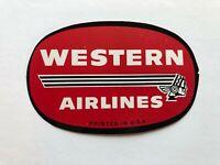 Metallic Airline Luggage Label BRANIFF AIRWAYS ~Conquistador~ Great Die-cut