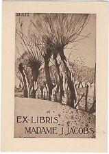 MAURICE LANGASKENS: Exlibris für Madame J. Jacobs, 1930