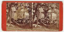 RARE Stereoview Photo - LOT of 2 - Warner's Island Thousand Islands NY 1870s