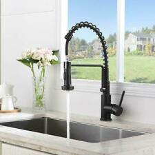 Spring Kitchen Faucet Single Handle Pull Down Sprayer Oil Rubbed Bronze Mixer
