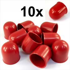 10x Barra de bola de remolque 50 mm Rojo Tapa Remolque Coche Van Trailer towball Protección
